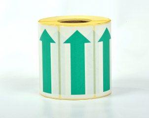 Flechas de Papel autoadhesivas - 100mm Verde