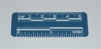 "Escala para Evidencia Fotográfica - Azul 50mm/2"""