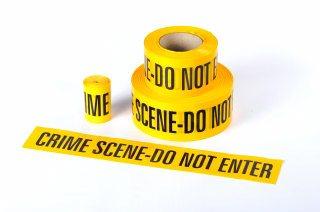 CRIME SCENE DO NOT ENTER - Barrier Tape 75mm x 250M (For Training Purposes)