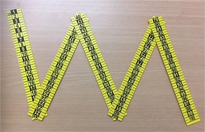 Escala de Referencia Métrica Plegable de 5 Partes