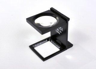 Lupa Plegable - Negro Metálico con Estuche